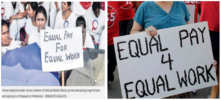PROTEST FOR WAGE GAP